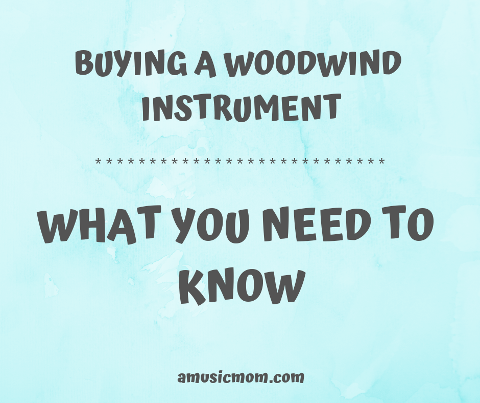 Buying a woodwind instrument - what you need to know.
